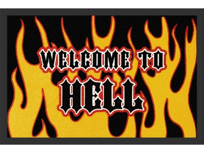 Doormat 40 x 60 cm - (Welcome To) Hell