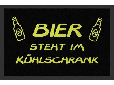 Fußmatte 40 x 60 cm - Bier steht im Kühlschrank