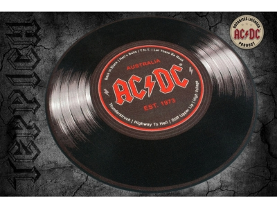 Doormat 40 x 60 cm - AC / DC - record Ø 50 cm