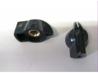 Zeigerknopf schwarz Achse 6,3 mm Für Amerikanische Verstär..