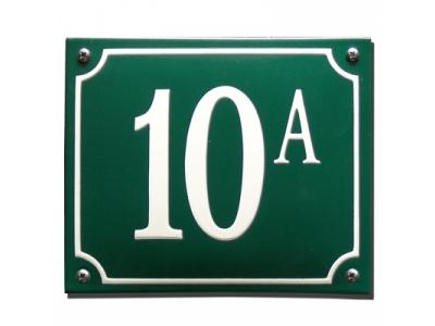 Hausnummern Grösse 13X10cm Rechteckig Gekrümmt
