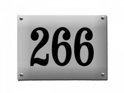 Hausnummern Grösse 22X16cm Rechteckig Gekrümmt