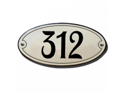Hausnummern Grösse 10X5cm OVAL Gekrümmt