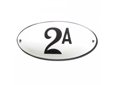 Hausnummern Grösse 10X20cm OVAL Gekrümmt
