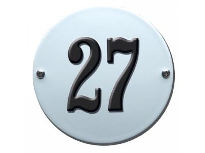 Hausnummern Grösse 10cm RUND Gekrümmt