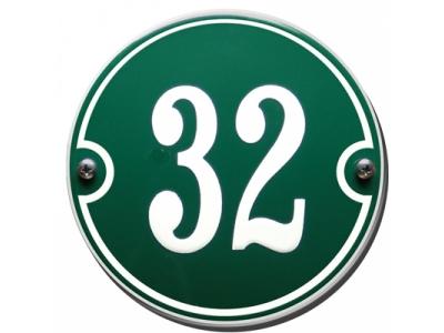 Hausnummern Grösse 13cm RUND Gekrümmt