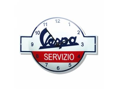 VESPA Email Uhr VESPA Servicio Grösse 40x53 cm Durchmesser..