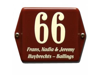 Hausnummern 12x12cm Mit Namen 3 Zeilig   Rechteckig Abgeka..