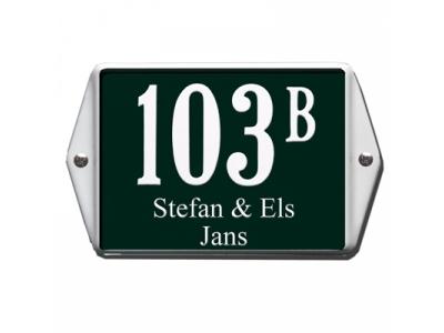 Hausnummern 16x12cm Mit Namen 3 Zeilig   Rechteckig Abgeka..