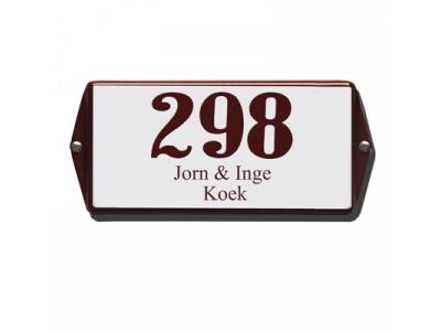 Hausnummern 20x10cm Mit Namen 3 Zeilig Rechteckig Abgekann..