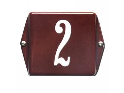 Hausnummern Grösse 12x12cm Rechteckig Abgekanntet und und ..