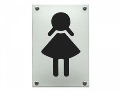 WC Damen Grösse 8 x 12 cm