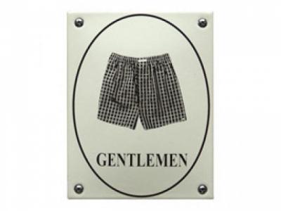 WC Gentlemen Grösse 10 x 13 cm