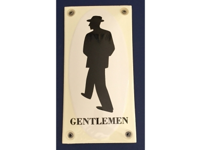 WC Gentlemen Sir Grösse 7 x 14 cm