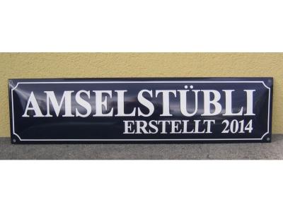 Strassenschilder 70x20cm 2 Zeillig  Gr..