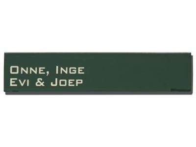 Namensschilder 16x5cm 2 Zeillig ROBINA Rechteckig