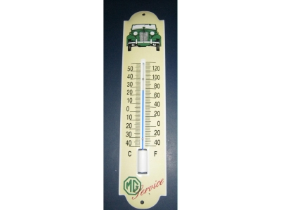 MG Auto Marke Thermometer MG TD Service 6,5 x 30cm