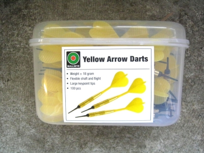 Dart-Pfeile gelb SUPER-Sparpackung 100 Stück  BULLSEYE