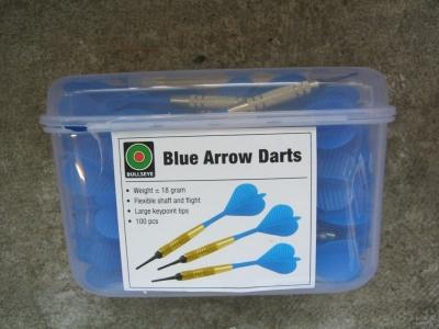 Dart-Pfeile blau SUPER-Sparpackung 100 Stück  BULLSEYE