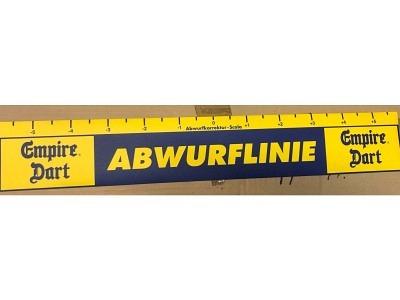 Trow-line the bull starts here Abwurflinie