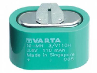 Akku VARTA 4.8 V 140 mAh Knopfzellen-Akkupack Ni-MH Knopfz..
