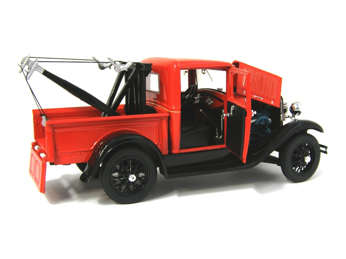 ford model a tow truck red 1 18 alle modelle 1 18. Black Bedroom Furniture Sets. Home Design Ideas