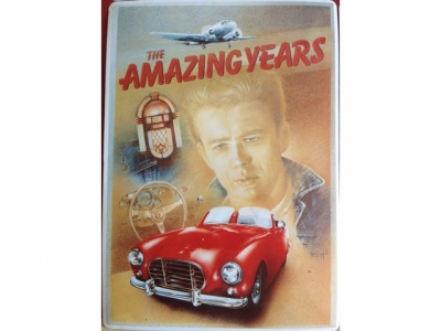 Blechkarte THE AMAZING YEARS JAMES DEAN