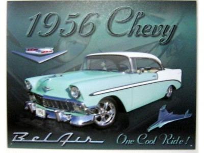 Chevy 1956 Bel Air Blechschild 30X41cm