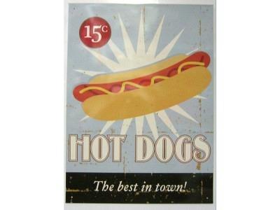 Hot Dogs Blechschild 30X41cm