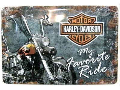 Harley-Davidson Favourite Ride  3D Blechschild 30X20cm