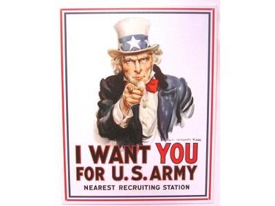 Uncle Sam I Want You Blechschild 32X41cm