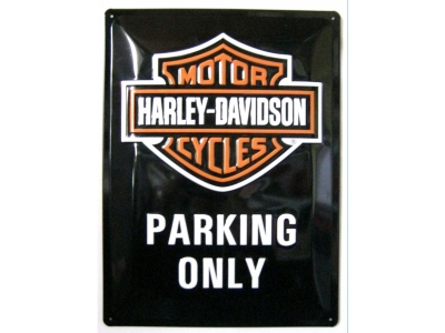 Harley-Davidson Parking Only  3D Blechschild 30X40cm