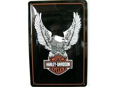 Harley-Davidson Eagle Logo  3D Blechschild 30X20cm