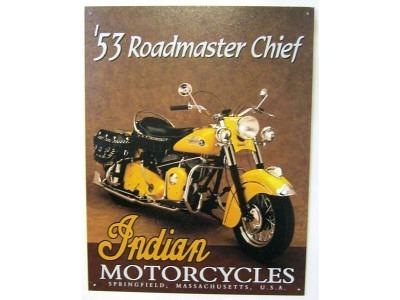Indian Motorcycles 53 Roadmaster Chief Blechschild 41X32cm