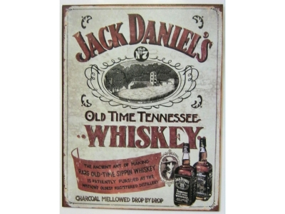 Jack Daniels Sippin Whiskey Old No.7 Blechschild 41X32cm