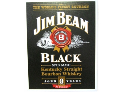 Jim Beam Black Label Bourbon Blechschild 41X32cm