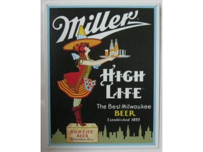 Miller Server   Blechschild 32X41cm