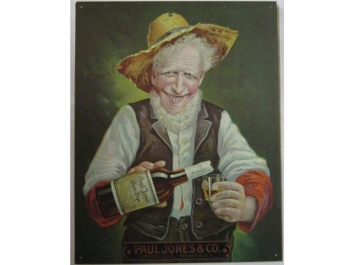Paul Jones Rye Whiskey   Blechschild 30X41cm