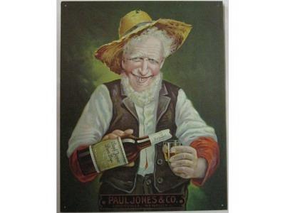 Paul Jones Rye Whiskey   Blechschild 30X41cm