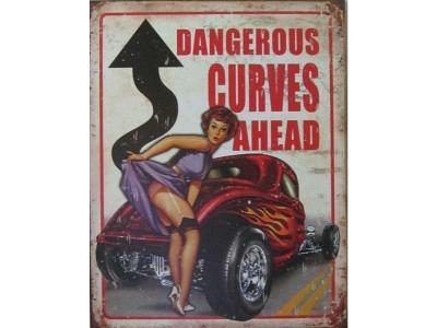 Legends - Dangerous Curves  Blechschild 30X41cm