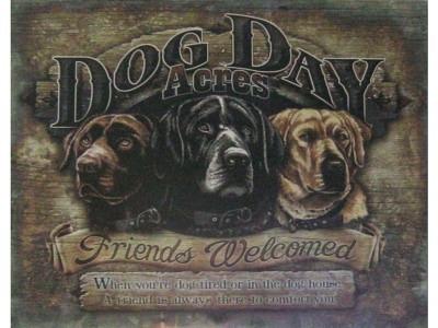 Dog Day Acres  Blechschild  32x41