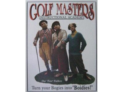 Three Stooges Meistergolfer  Blechschild  32x41