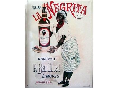 Rum La Negrita  Blechschild  30x41