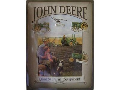 John Deere Grandfather  Blechschild  30x40