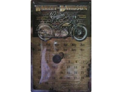harley davidson brick wall kalender blechschild 30x20. Black Bedroom Furniture Sets. Home Design Ideas