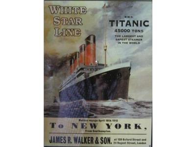 Titanic  Blechschild  30x41