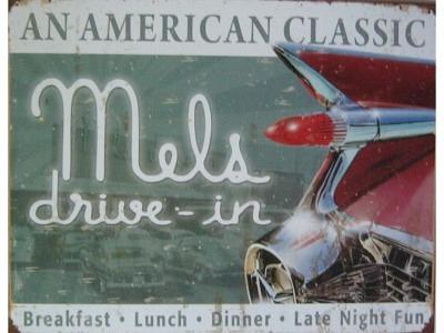 Mels Diner Classic  Blechschild 30X41cm