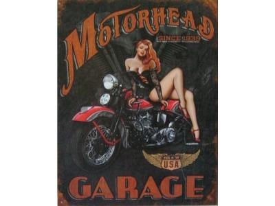Legends - Motorhead Garage  Blechschild 30X41cm