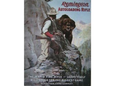 Remington Arms Right of way  Blechschild 32X41cm
