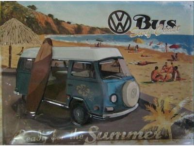 VW Ready for a hot summer  Blechschild 30X41cm